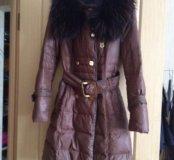 Пуховик Moncler коричневый 42-44р.