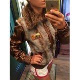 Новая кожаная куртка с мехом Dolce Gabbana оригина