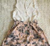 Блузка H&M, юбка STRADIVARIUS