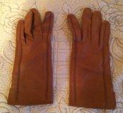 Перчатки кожаные (лайкра)