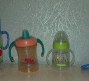 2 Бутылки,поильник и ниблер