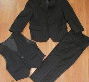 Костюм тройка (пиджак+жилетка+брюки)