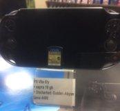 PS Vita б/у + карта 16гб + игра.