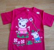 128 Пеппа футболка для девочки