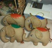 Слоники с ароматом кофе и корицы.