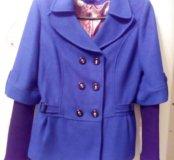 Пальто синие