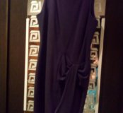 Платье черное с бантом. 44 р.