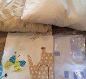 Детское постельное белье, одеяло, подушка
