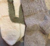 Шерстяные носки и следы
