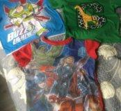 2 футболки Marks&Spenser + 1 футболка Мстители