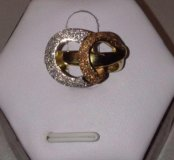 Модное золотое кольцо