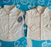 Детские рубашки 3-9 мес.