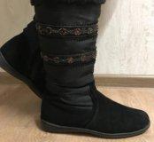 Сапоги зимние без каблука