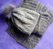 Шарф+шапка