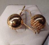 Советские золотые серьги