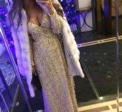 Платье в пол с пайетками