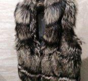 Меховая жилетка из Чернобурки + подарки 🎁