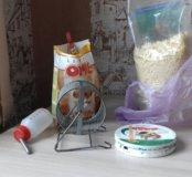 Корм,витаминки,  опилки и другое