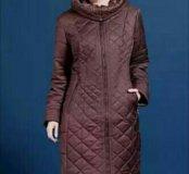 Стеганное пальто новое