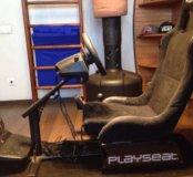 Игровое кресло автосимулятор +руль+ педали