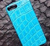 Бампер на IPhone 7Plus из кожи крокодила