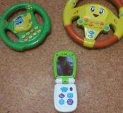Игрушки. Телефончик+ 2 руля. Цена за все