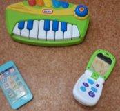 Игрушки. Пианино+ смартфончик+ телефончик. За все