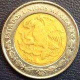 Монета Мексики, 1 песо 2005 биметалл