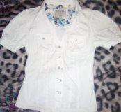 Guess s боди рубашка с перломутровыми пуговицами