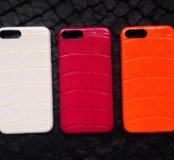 Бамперы для IPhone 7 Plus из кожи крокодила