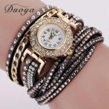 Новые !!! Часы-браслет (черные и серые)