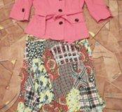 Летний пиджак и платье-сарафан