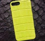 Бампер для IPhone 7 Plus из кожи крокодила