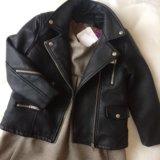 Новая кожаная куртка Zara на 3-4года