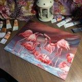 """Подарок на любой случай - картина """"Фламинго"""""""