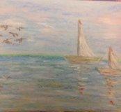 Картина Пейзаж в голубом.