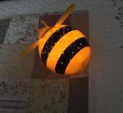 Ночник Пчелка! Проекция звёзд и месяца на потолок!