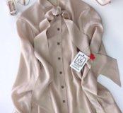 Блуза с бантом из итальянского шёлка