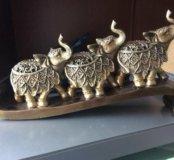 Статуэтка слонов, не стеклянная