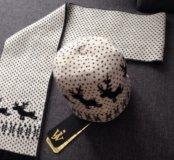 Новый комплект шапка+шарф.