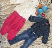 Курточки и брюки для малышки