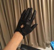 Новые кожаные перчатки, размер 7