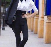 Черная галстук-бабочка