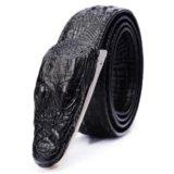 Новый кожаный ремень крокодил