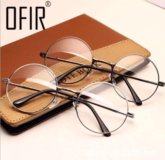 Новые круглые очки с прозрачными стёклами