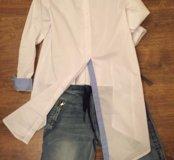 Итальянские новые джинсы и рубашка 42-44