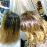 Осветление волос с OloPlex.