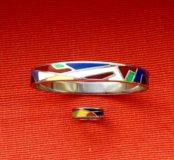 Браслет и кольцо эмаль