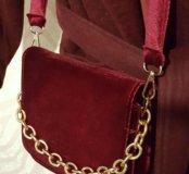 Бархатная сумка