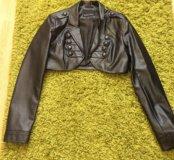 Курточка укорочённая экокожа новая.